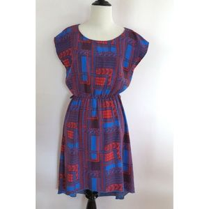 Anthropologie Size S Dress Blue Red